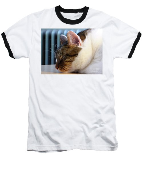 Sleeping Cat Baseball T-Shirt