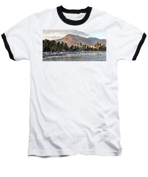 Sleepy Fishing Village Baseball T-Shirt