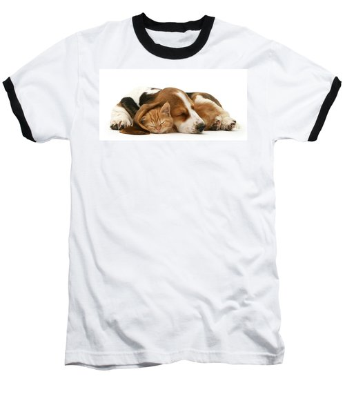Sleepy Ginger Pals Baseball T-Shirt