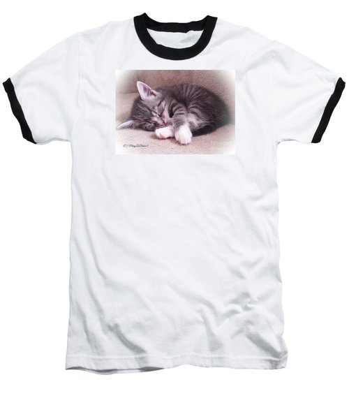 Sleepy Kitten Bymaryleeparker Baseball T-Shirt