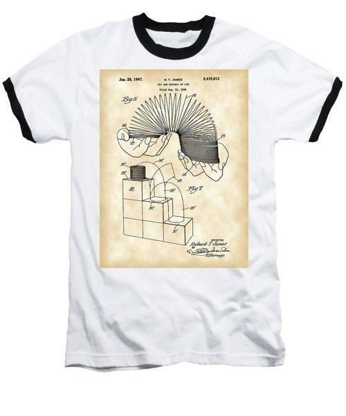 Slinky Patent 1946 - Vintage Baseball T-Shirt