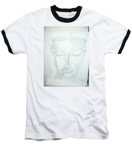 Slumbering Buddha Baseball T-Shirt by Sharyn Winters