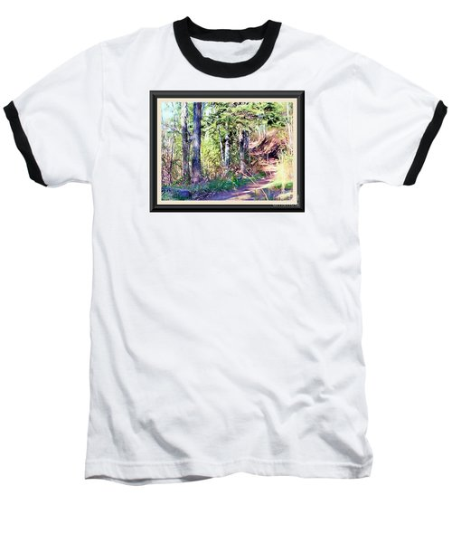 Small Park Scene Baseball T-Shirt