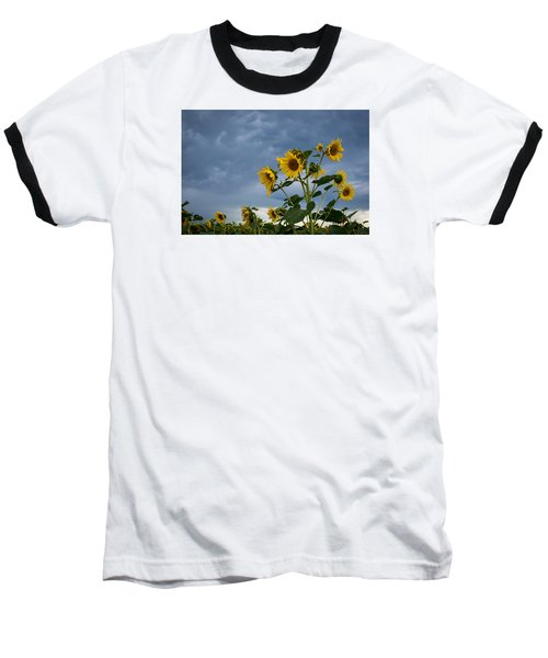 Small Sunflowers Baseball T-Shirt