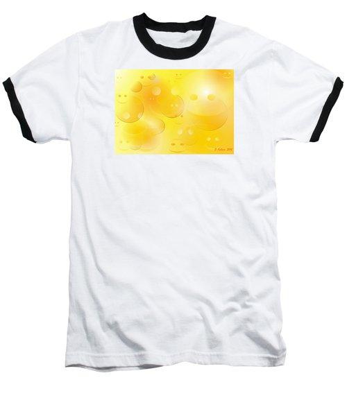 Smile Baseball T-Shirt by Denise Fulmer