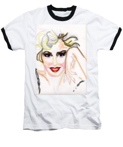 Smile For Me Marilyn Baseball T-Shirt