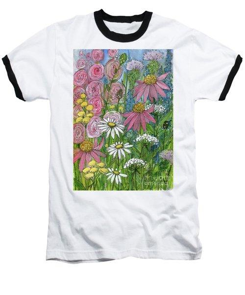 Smiling Flowers Baseball T-Shirt