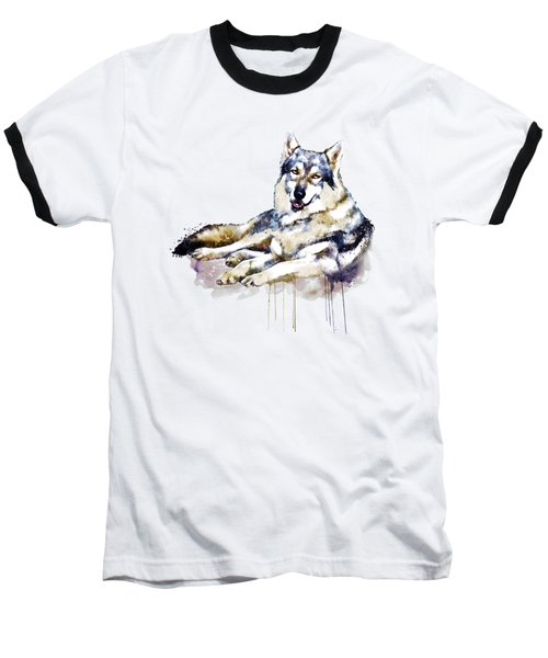 Smiling Wolf Baseball T-Shirt