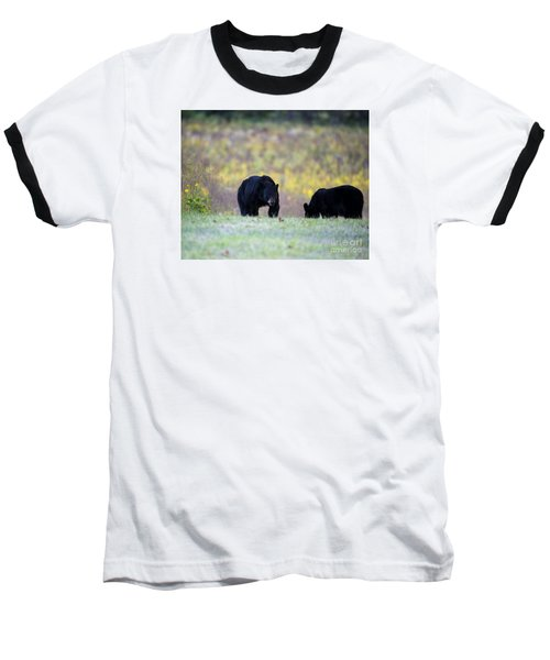 Smoky Mountain Black Bears Baseball T-Shirt by Nature Scapes Fine Art