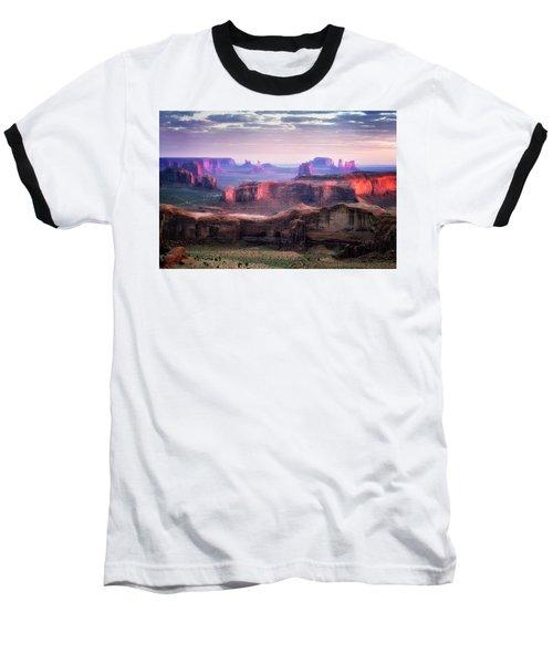 Smooth Sunset Baseball T-Shirt by Nicki Frates