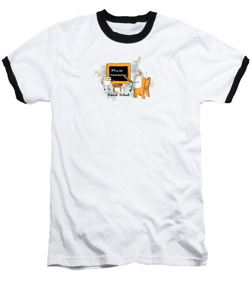 Baseball T-Shirt featuring the digital art Smore School Illustrated by Heather Applegate