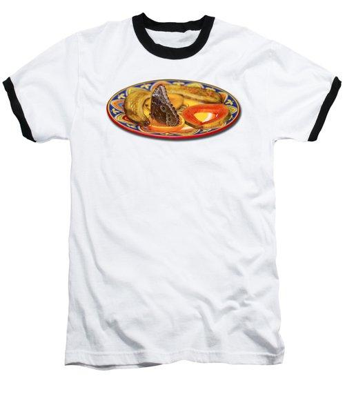 Snacking Butterfly Baseball T-Shirt by Bob Slitzan