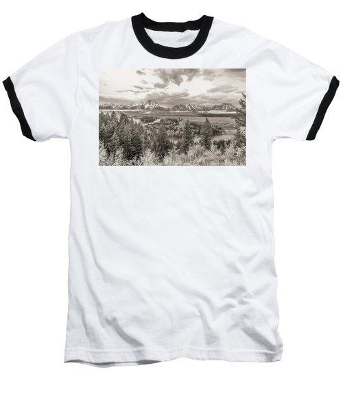 Snake River Overlook Grand Teton Baseball T-Shirt