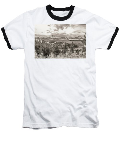 Snake River Overlook Grand Teton Baseball T-Shirt
