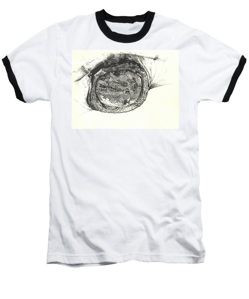 Snapping Turtle Baseball T-Shirt