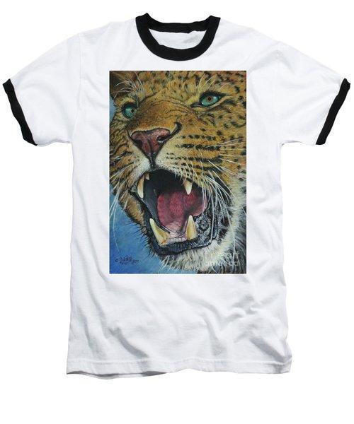 Snarl...amur Leopard Baseball T-Shirt