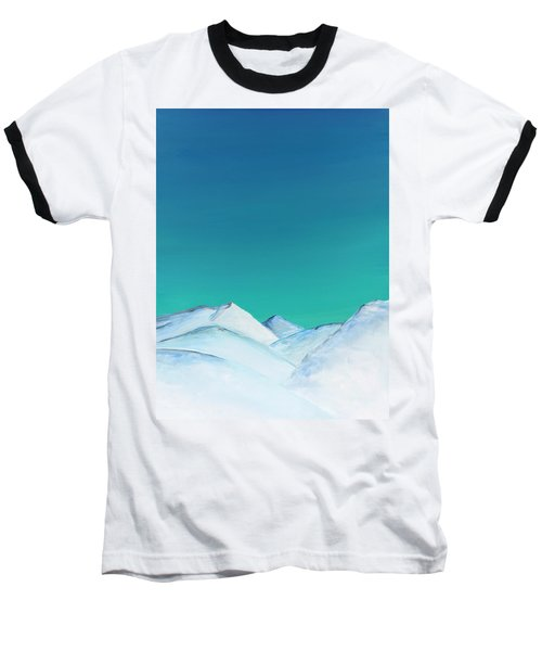 Snow Capped Mountains Baseball T-Shirt
