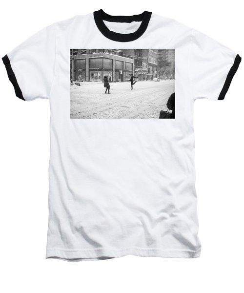 Snow Dance - Le - 10 X 16 Baseball T-Shirt