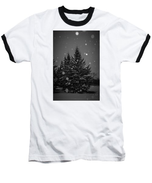 Snow Flakes Baseball T-Shirt by Annette Berglund