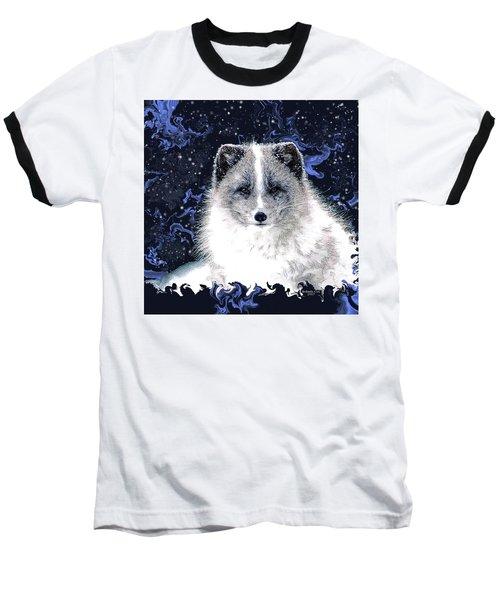 Snow Fox Baseball T-Shirt