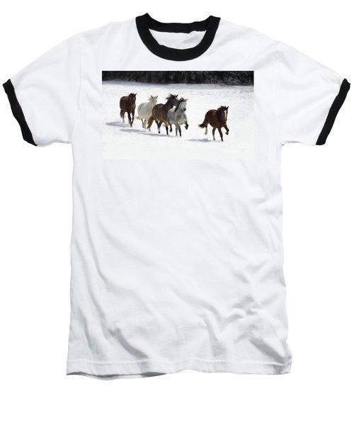 Snow Gallop Baseball T-Shirt