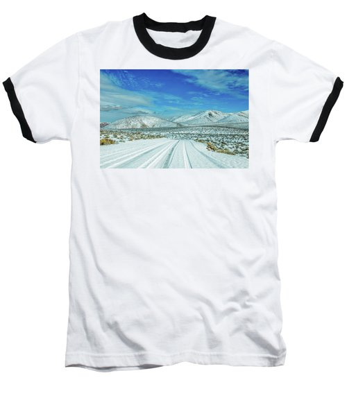 Baseball T-Shirt featuring the photograph Snow In Death Valley by Peter Tellone