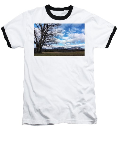 Snow In The High Mountains Baseball T-Shirt by Steve Hurt