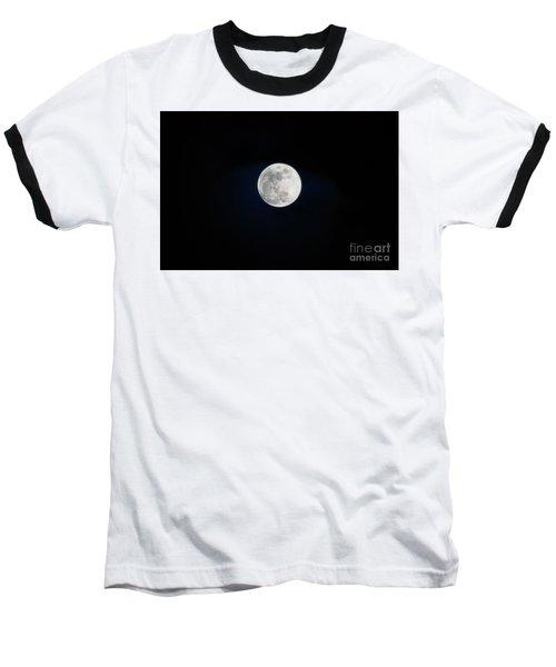 Snow Moon 4 Baseball T-Shirt by Janie Johnson