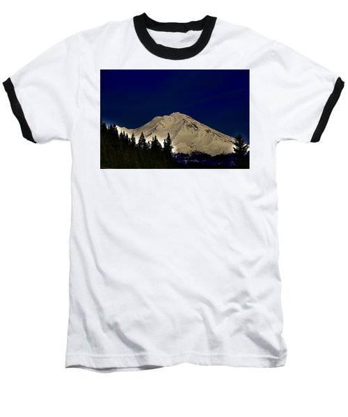 Snow On Shasta Baseball T-Shirt