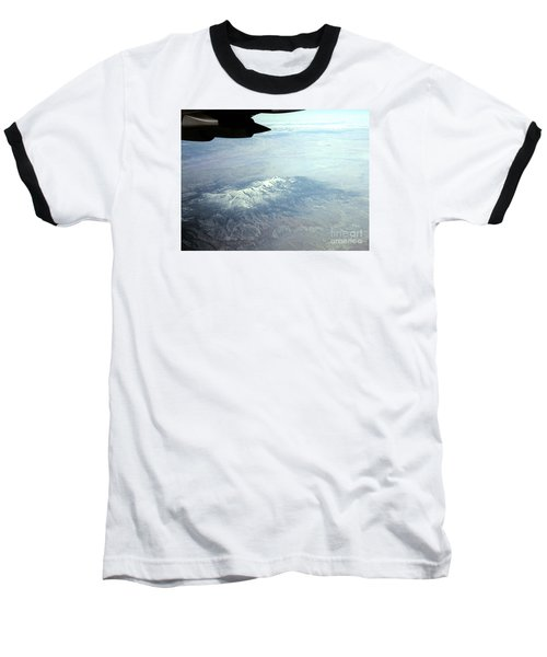 Snow On The Mountains Flying To Alaska Baseball T-Shirt by Merton Allen