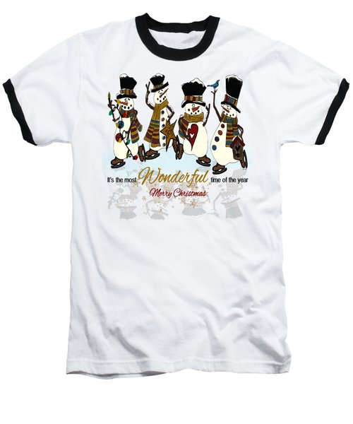 Snow Play Baseball T-Shirt by Tami Dalton