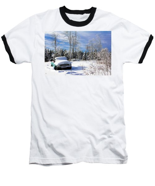 Snow Truck Baseball T-Shirt