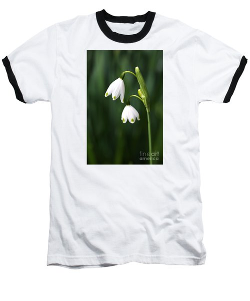 Snowdrops Painted Finger Nails Baseball T-Shirt