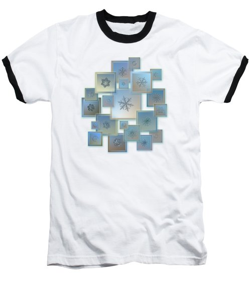Baseball T-Shirt featuring the photograph Snowflake Collage - Bright Crystals 2012-2014 by Alexey Kljatov