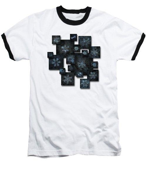 Snowflake Collage - Dark Crystals 2012-2014 Baseball T-Shirt