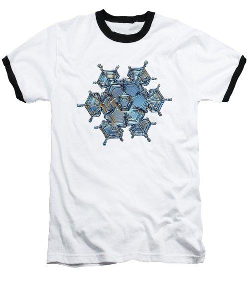 Snowflake Photo - Flying Castle Baseball T-Shirt