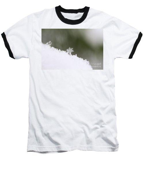 Snowflake Baseball T-Shirt by Victor K