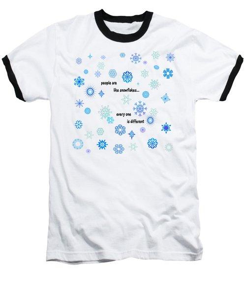 Snowflakes 3 Baseball T-Shirt