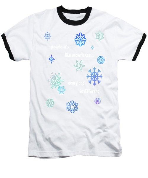 Snowflakes 4 Baseball T-Shirt