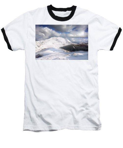 snowy Anboto from Urkiolamendi at winter Baseball T-Shirt