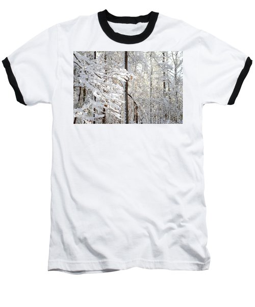 Snowy Dogwood Bloom Baseball T-Shirt
