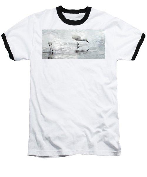 Snowy Egrets Baseball T-Shirt
