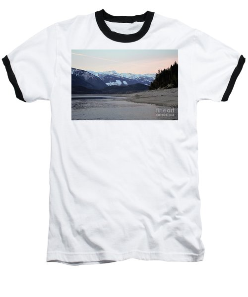 Baseball T-Shirt featuring the photograph Snowy Mountains by Victor K