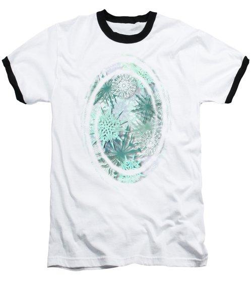 Snowy Night Baseball T-Shirt by AugenWerk Susann Serfezi