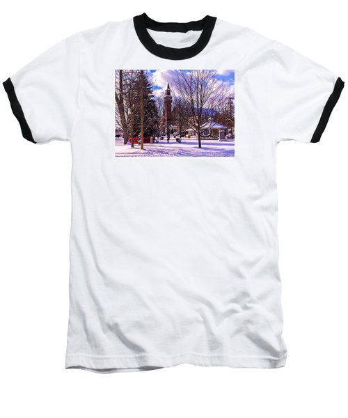 Snowy Old Town Hall Baseball T-Shirt