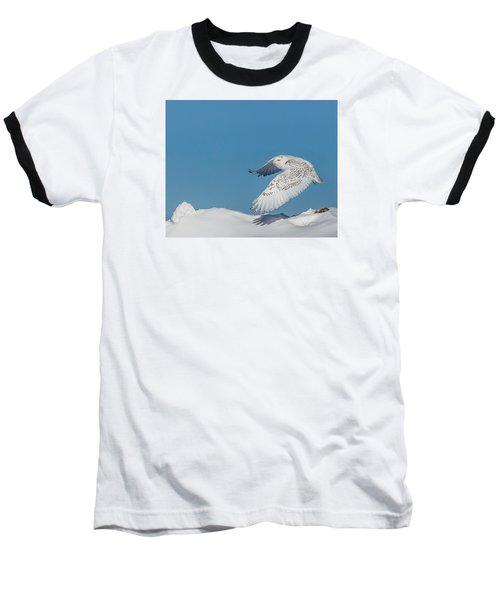 Snowy Owl - Taking Flighty Baseball T-Shirt