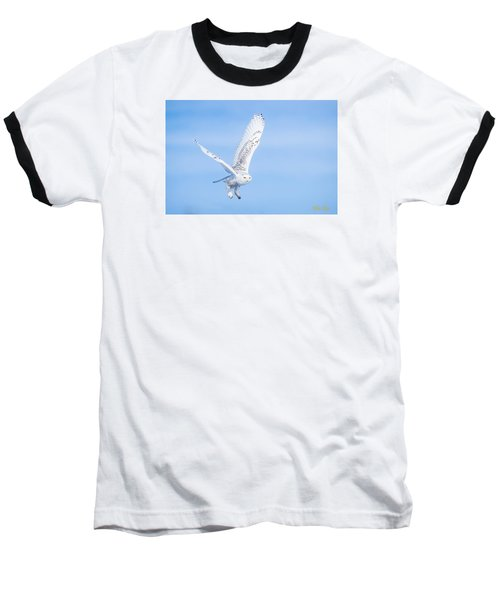 Baseball T-Shirt featuring the photograph Snowy Owls Soaring by Rikk Flohr