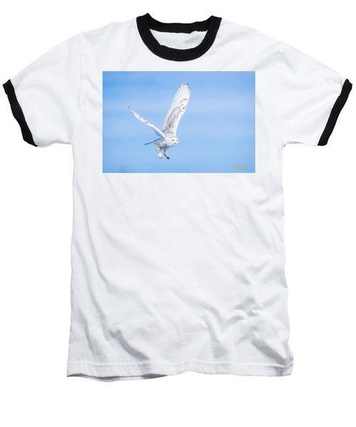 Snowy Owls Soaring Baseball T-Shirt
