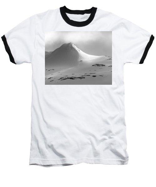 Snowy Peak Over Grundarfjordur Baseball T-Shirt