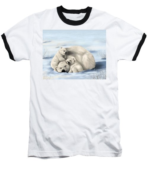 Baseball T-Shirt featuring the painting So Much Love by Veronica Minozzi